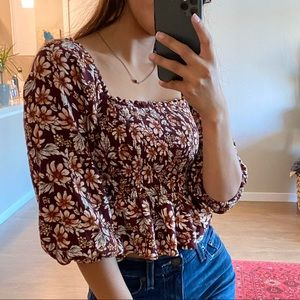 AEO Floral Top